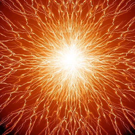 human nerve cells on a soft orange background