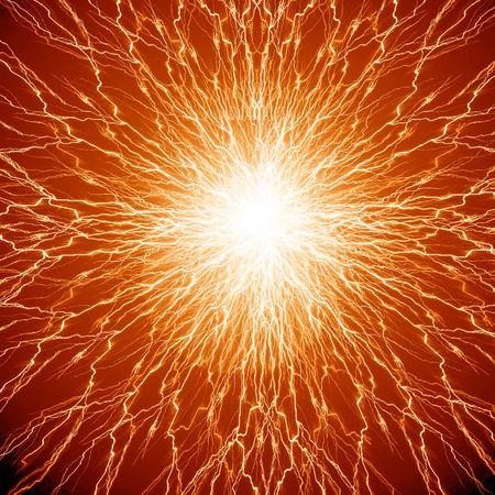 nervios: humanos de las c�lulas nerviosas en un suave fondo naranja