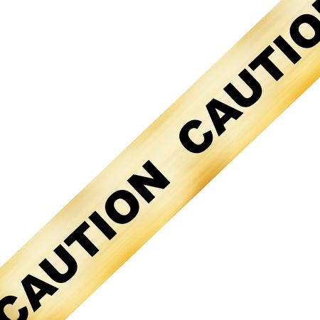 police line with caution on it on a white background Stock Photo - 3752933