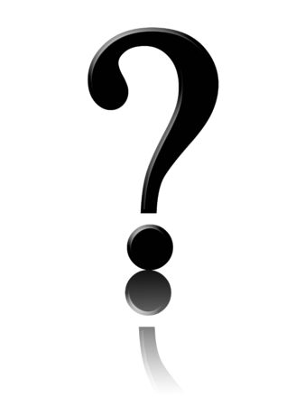 black question mark on a white background Stock Photo - 3752926
