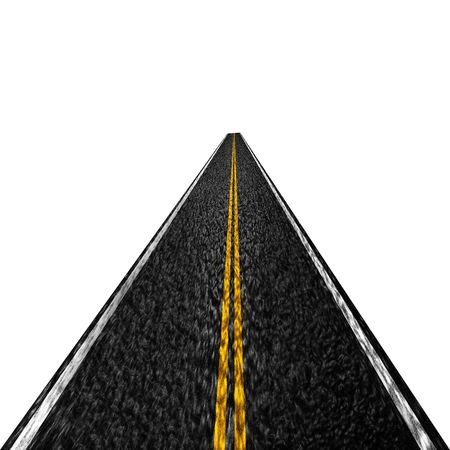 double lane: asphalt road that is disappearing into the distance