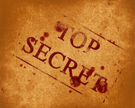 top secret stamp on a grunge paper background photo