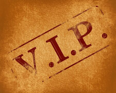 notability: stamp with vip on an old background Stock Photo