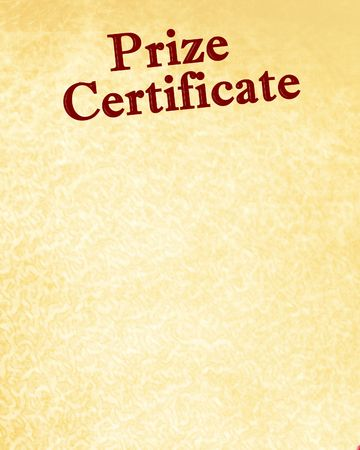 prize certificate with some stains on it Stock Photo - 3753501