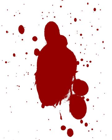 red blood splatter on a white background Stock Photo - 3752913