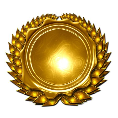 gold medal on a solid white background Stock Photo - 3782477