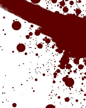 violent: blood smear on a solid white background