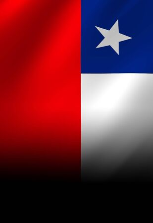 chilean flag: Chilean flag waving in the wind