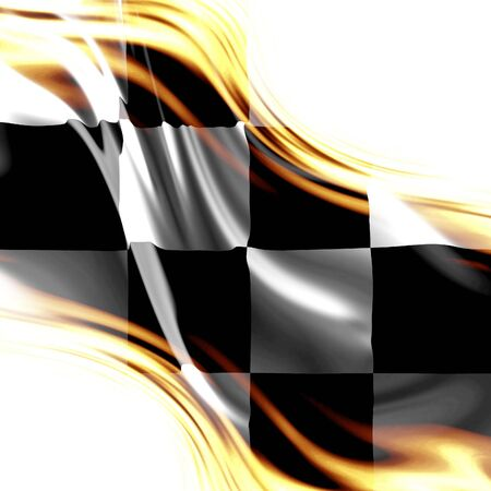 old racing flag with some folds in it photo