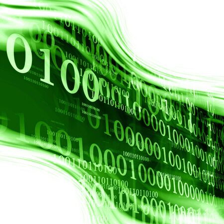 bytes: bits and bytes on a green background