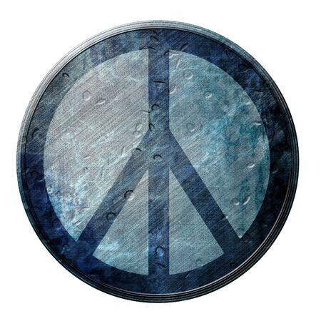 Grunge flower power symbol on a white background Stock Photo - 3782674