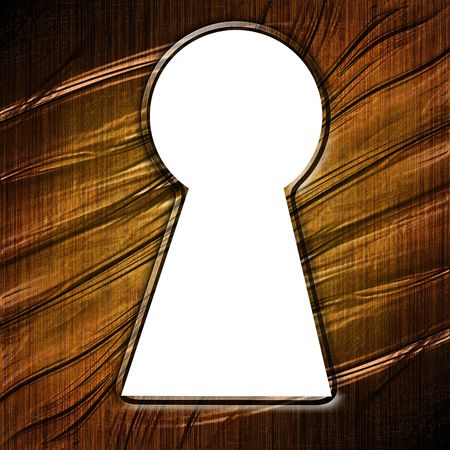 key hole in a wooden door with some damage Stock Photo - 3782675