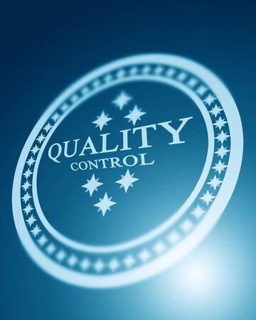 regulated: quality control stamp on a blue background