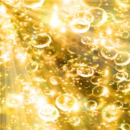 champagne bubbles on a soft golden background Stock Photo - 3826338