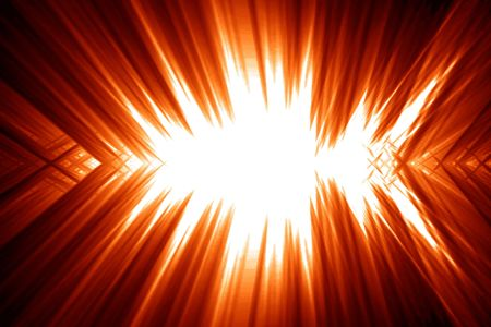 implode: bright explosion on a red or orange background