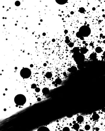 ink smear on a solid white background Stock Photo - 3826264