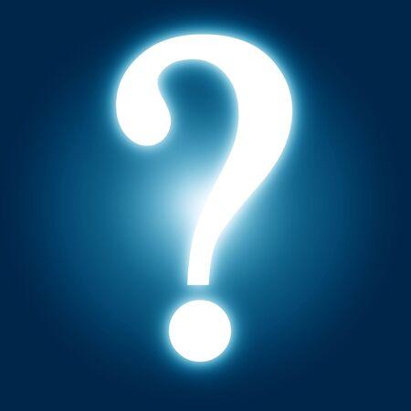 question mark on a dark blue background photo