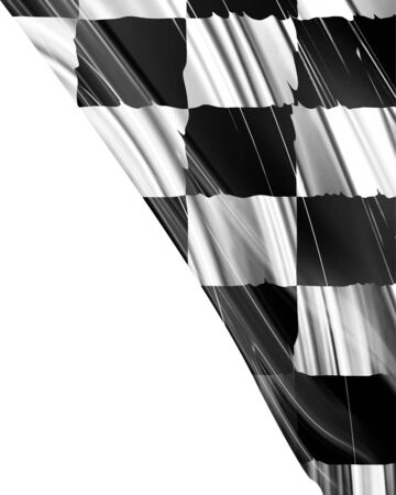 chequered: racing flag with some smooth folds in it