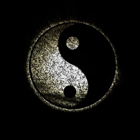 ying: yin yang symbol on a dark background