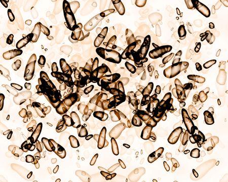 Enlarged bacteria illustration on a white background Stock Illustration - 3866463