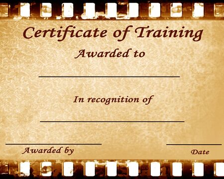 certificate of training with some stains on it photo