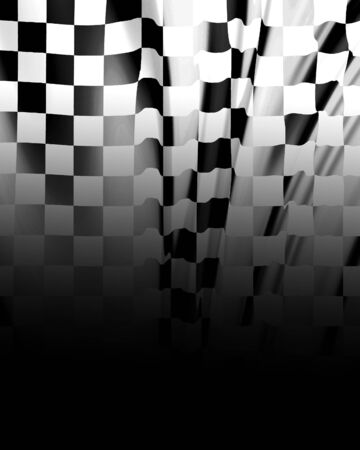 Checkered flag waving in the wind with some folds Stock Photo - 3861226