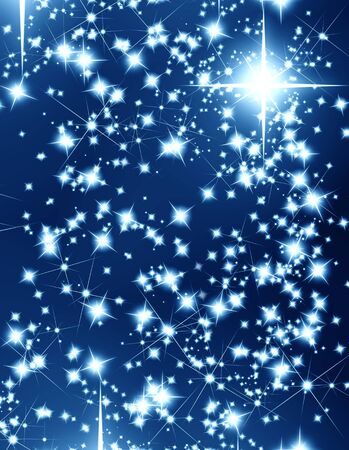 bright stars on a dark blue background Stock Photo - 3866496