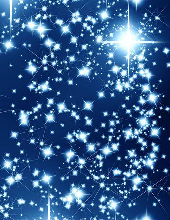 bright stars on a dark blue background photo
