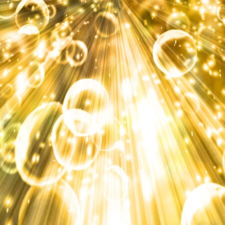 champagne bubbles on a golden or yellow background Stock Photo - 3866460