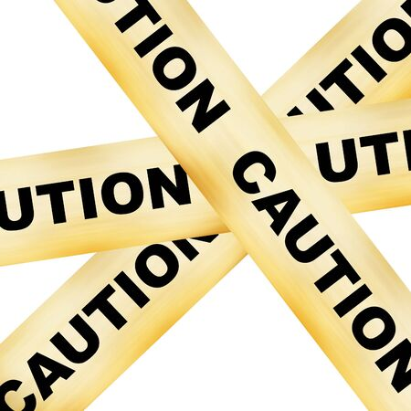 police line white caution on it on a white background Stock Photo - 3866358