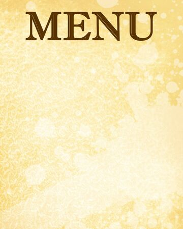 old paper texture with menu written on it Stock Photo - 3866447