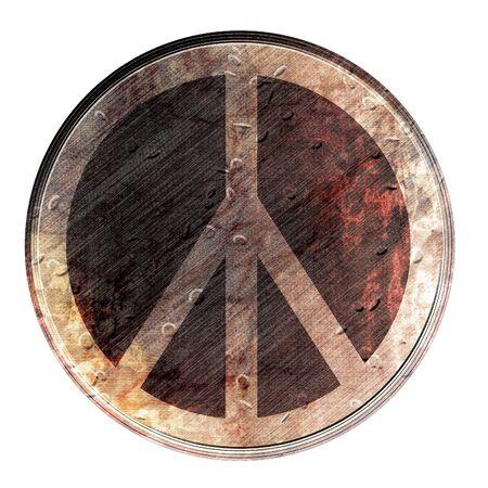 Grunge flower power symbol on a white background Stock Photo - 3866577