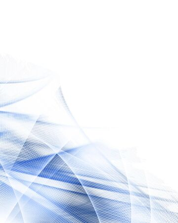 abstract blue background with some smooth lines in it Stock Photo - 3909857