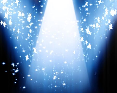 famous writer: Curtain background with spotlights and some glitters on it