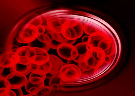 artery with red blood cells on a dark background Stock Photo - 3909826