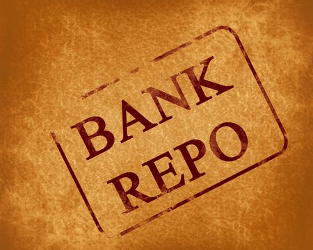 repo: red stamp with bank repo written on it