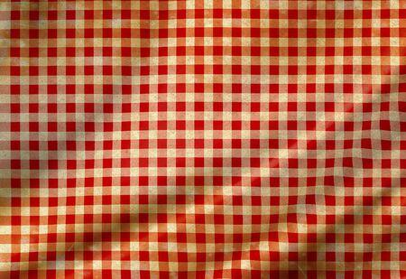 picnic paño rojo con buen algunos pliegues en el mismo Foto de archivo