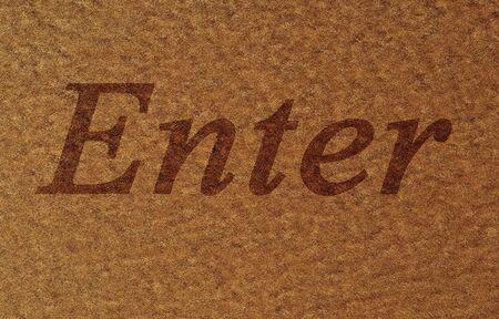 doormat with some fine grain in it photo