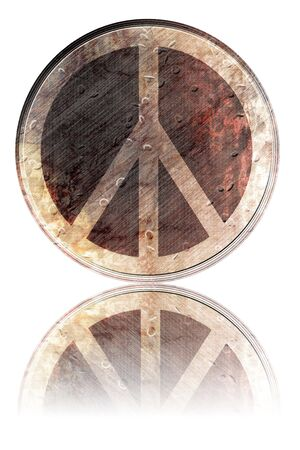 flower power symbol on a white background photo