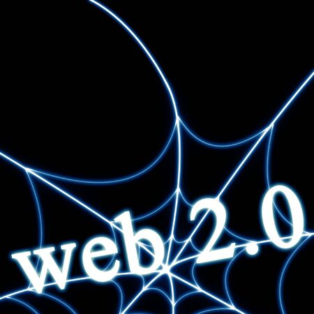 web 2.0 written on a solid black background