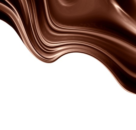 melted chocolate: Chocolate swirl on a solid white background