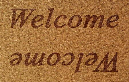 door mat with welcome written on it Stock Photo - 3964663
