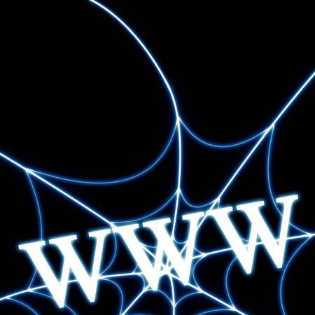 www written on a solid black background Фото со стока