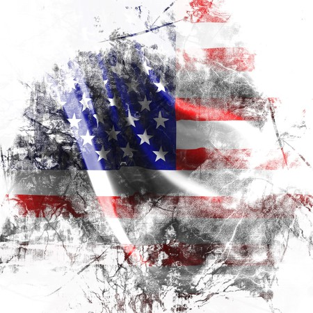 American flag background with a grunge touch Stock Photo - 4048495