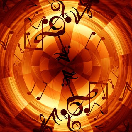 Abstract musical background with music notes in it photo