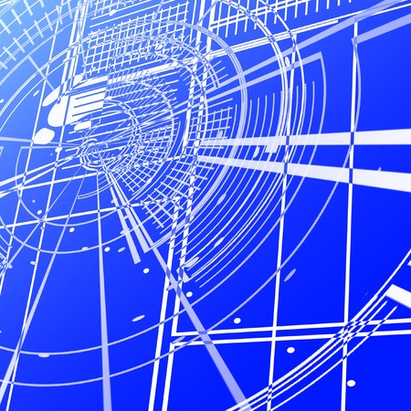 Blue print on a soft blue background photo