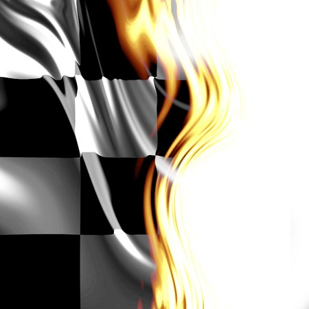 Checkered flag integrated in a golden design photo