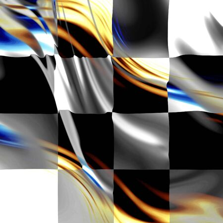 chequered: old racing flag with some folds in it