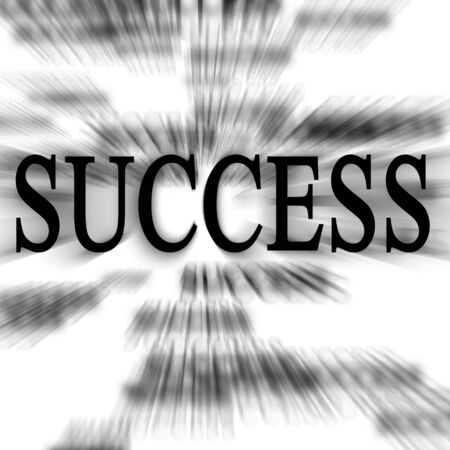 outlook: success written in the paper on a white background Stock Photo