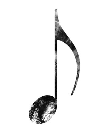 grunge music note on a white background Stock Photo